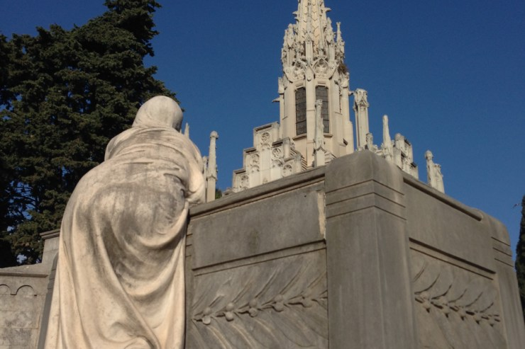 death & travel at Montjuic Cemetery, Barcelona