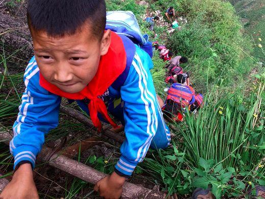 635999477207300454-AP-China-Village-Ladder.4
