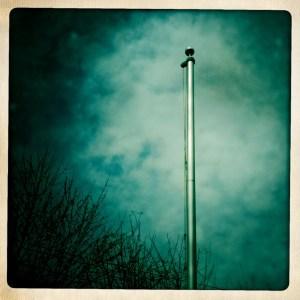 empty flagpole