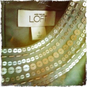 Loft dress label