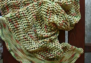Open weave summer shawl knitting pattern