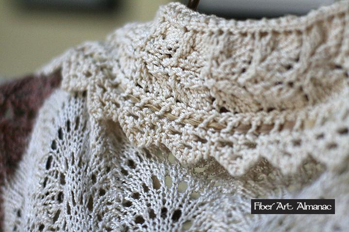 Vintage style lace-knit jacket