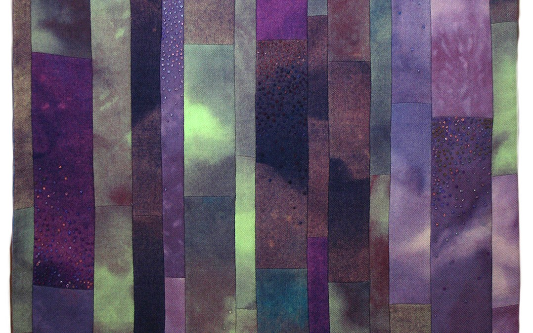 Turning vintage wool pants into an abstract art quilt