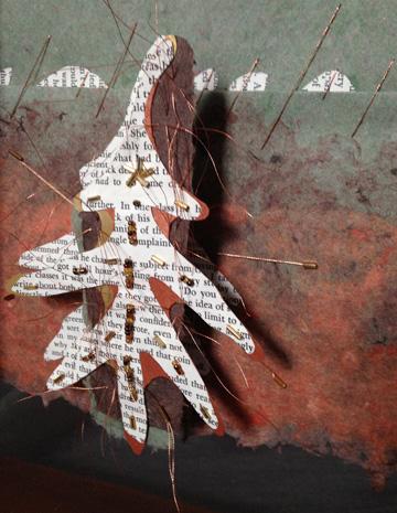 Detail white oak suspended