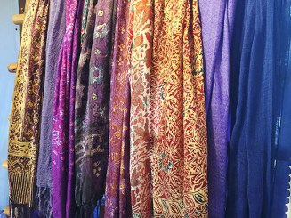 Cotton and silk scarves.