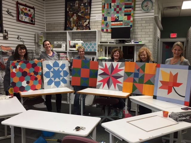Finished Barn Quilt Squares