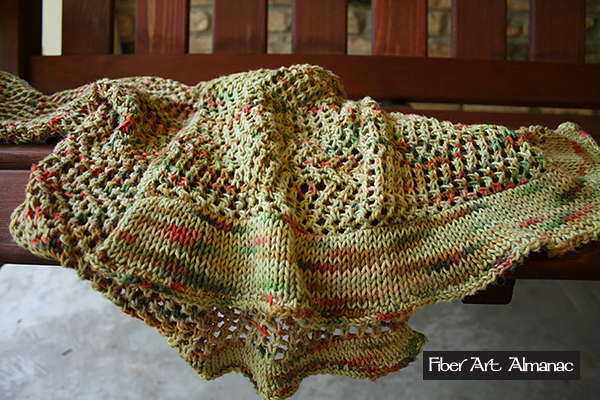 Open work summer shawl