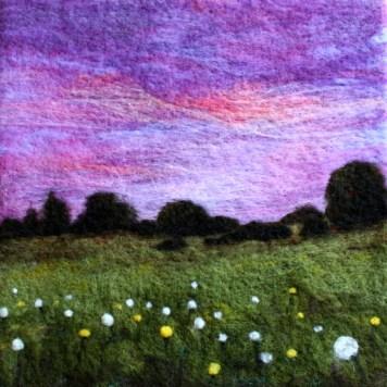 Lisa Jordan felted landscape