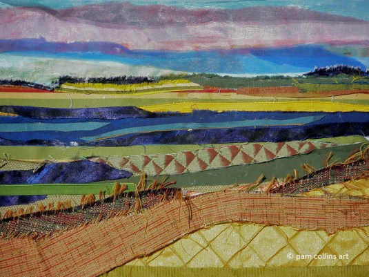 Fabric Landscape © Pam Collins Art