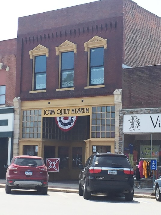 Iowa Quilt Museum front entrance. Winterset, Iowa.