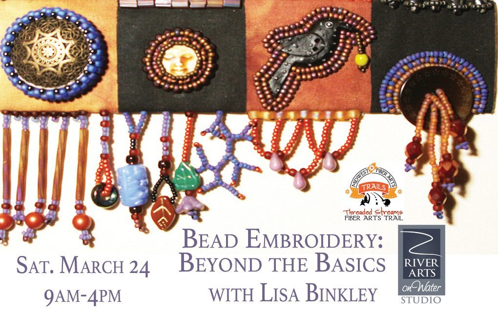 Workshop: Bead Embroidery – Beyond the Basics with Lisa Binkley