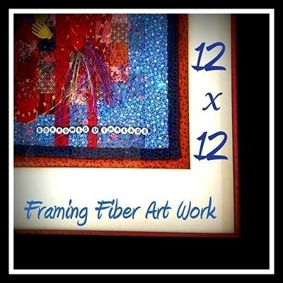 12×12…Framing Fiber Art Work