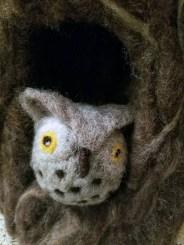 Needle felted owl