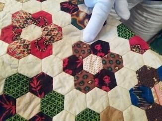 Close-up quilt appraisal