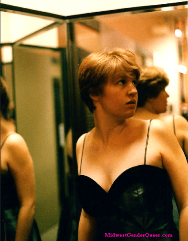 Store dressing room shoot, early 2000. I was deeply embarrassed  by this picture because of the cleavage.