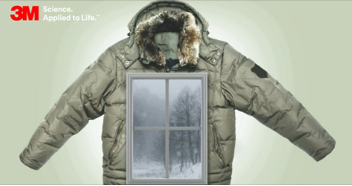 Like a Winter Jacket for Home Windows - 3M Thinsulate Window Film
