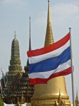 Thai flag and building tops
