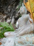 Buddha statue out on the island