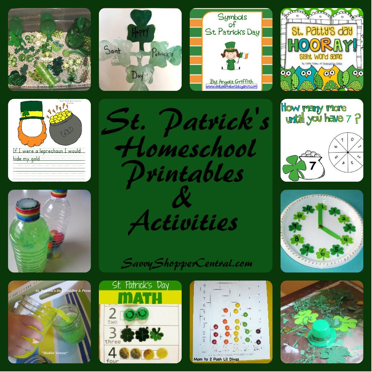 St Patrick's Day Homeschool Printables & Activities