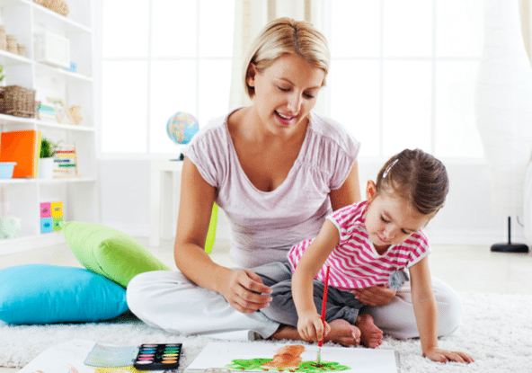 Setting aside one-on-one time for each child helps school-time run smoothly