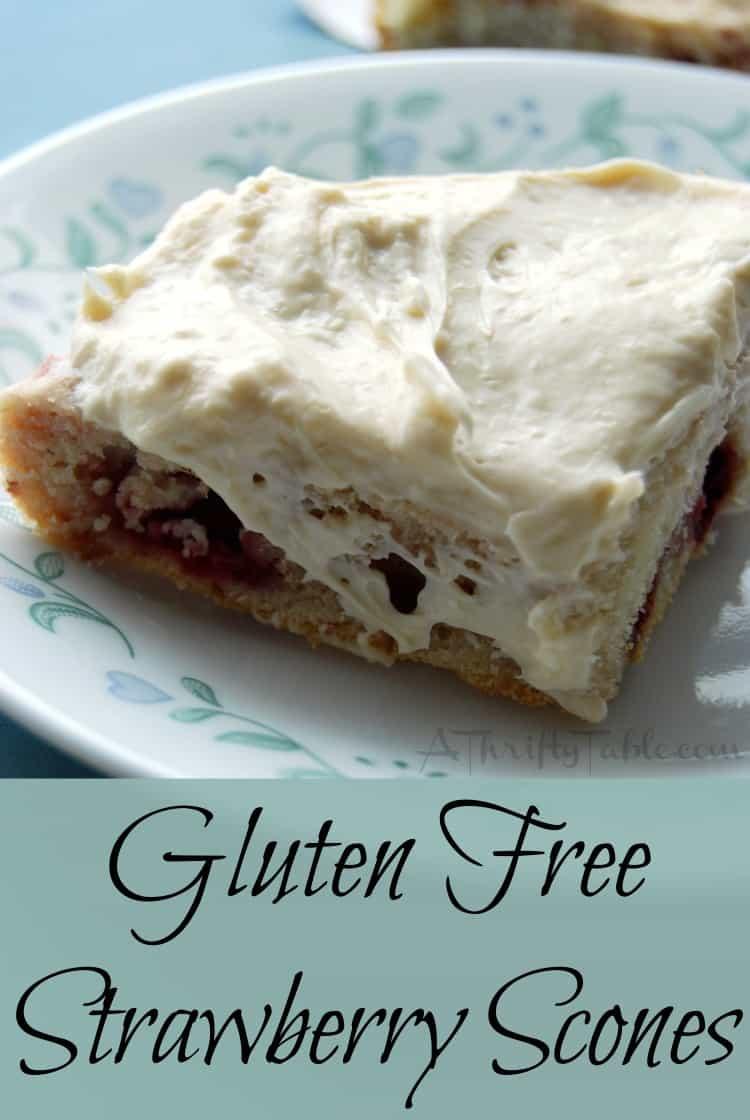Gluten Free Strawberry Scones