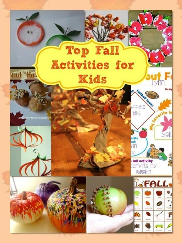 Fall Activities For Kids include this great list of 30 Fun Fall Activities For Kids that are perfect for days spent indoors due to dreary weather!