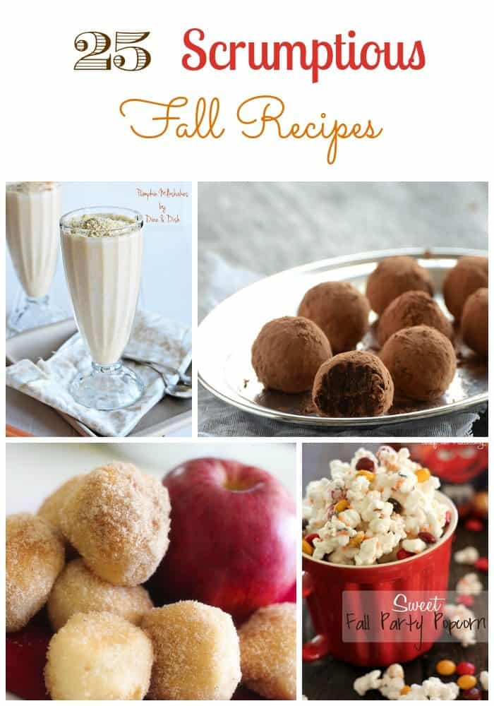 Easy Fall Recipes don't have to be bland. This list of 25 Scrumptious Easy Fall Recipes includes drinks, desserts, and snacks to satisfy your craving!