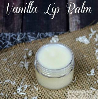 Homemade Vanilla Lip Balm S