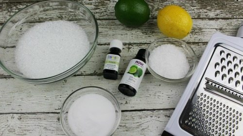 Homemade Bath Salts like our Lemon Lime Homemade Bath Salts are a great frugal way for Mom to pamper herself! They are easy to make and smell amazing!