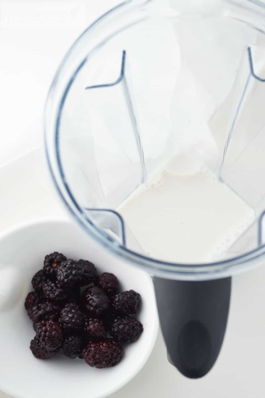 Blackberry Almond Milk