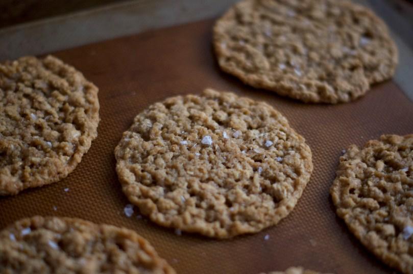 http://bakingbites.com/2013/01/thin-crispy-salted-oatmeal-cookies/