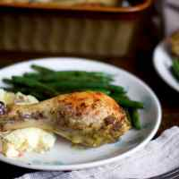 Pesto Roasted Chicken Legs