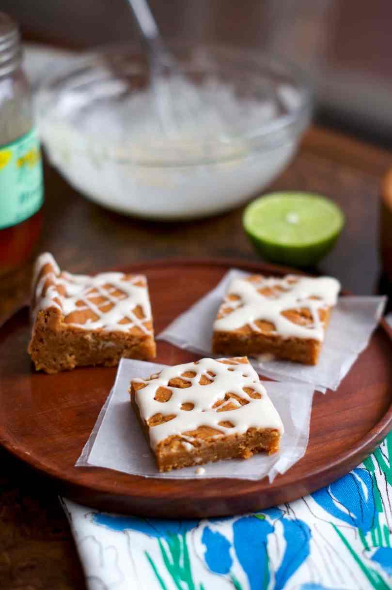Honey Lime Cookies Bars | via Midwest Nice Blog