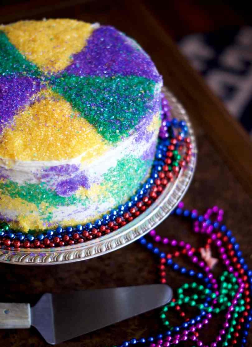King Cake Layer Cake   via Midwest Nice Blog