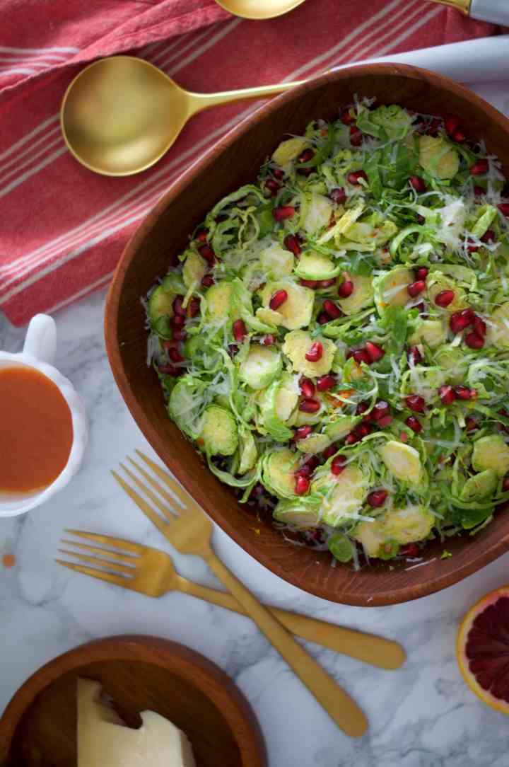 Shaved Brussels Sprouts Salad with Blood Orange Vinaigrette