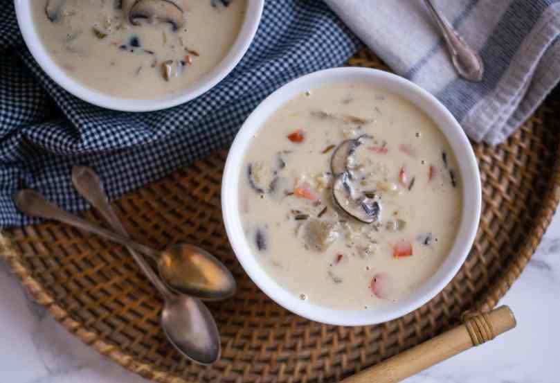 Mushroom & Wild Rice Soup Recipe