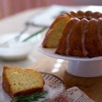 Grapefruit Rosemary Bundt Cake