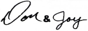 Don and Joy Signature 2