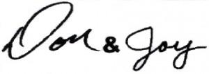 Don and Joy Signature 2