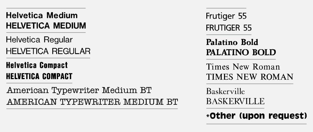 Vinyletter Typefaces