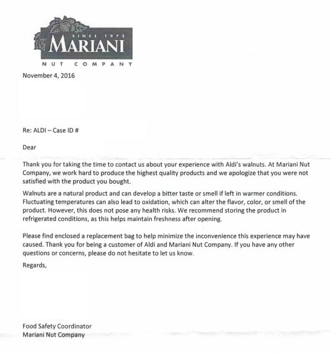 Courteous Mariani Letter