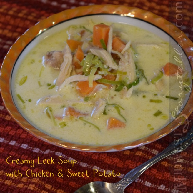 Bowl of Creamy Leek Soup
