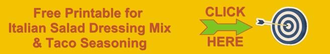 Printable Italian Dressing Mix & Taco Seasoning www.midweststoryteller.com