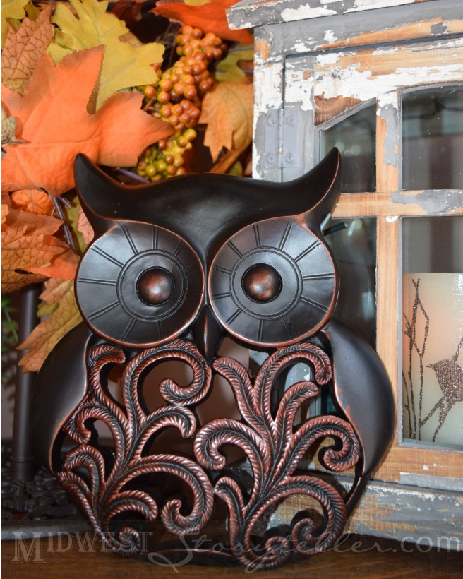 Owl Mantle Decor www.midweststoryteller.com