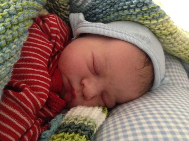 sleeping baby dressed