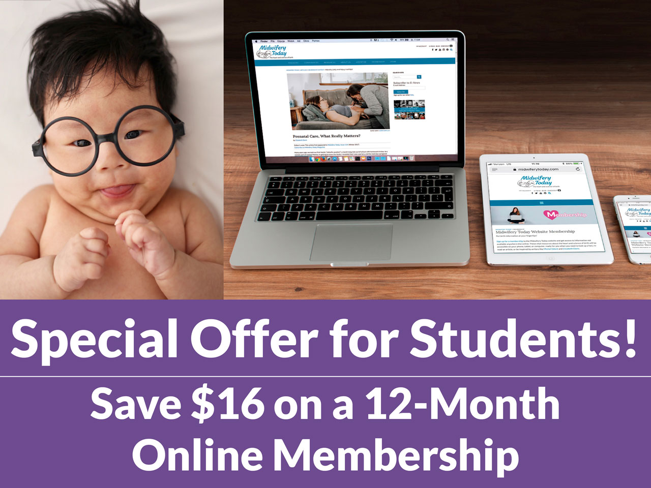 Students save $16 on a 12 month membership