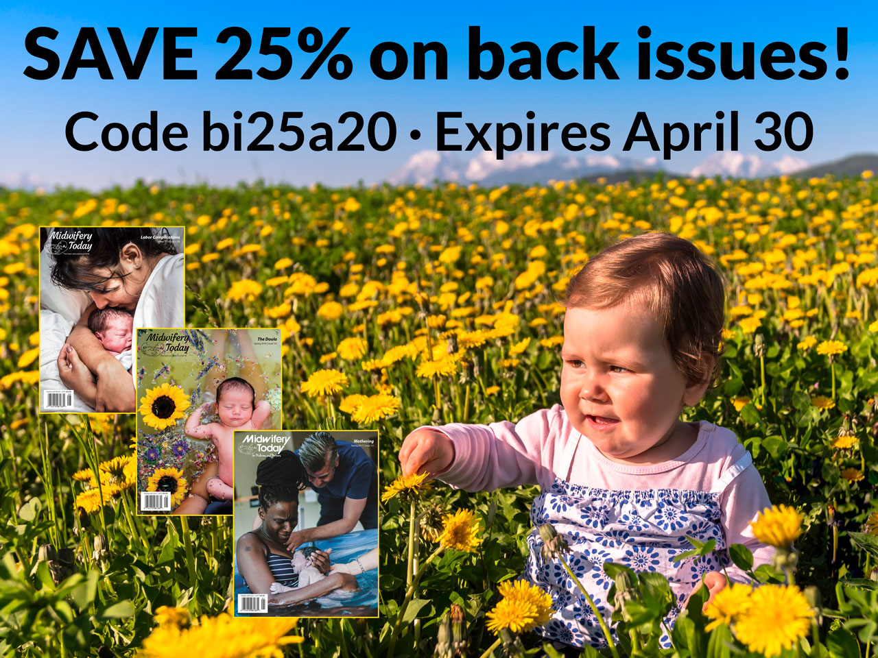 Save 25% on Midwifery Today back issues
