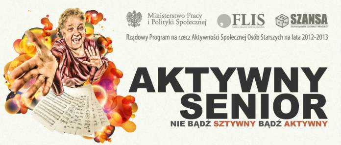 Baner projektu Aktywny Senior FLIS SZANSA MPiPS