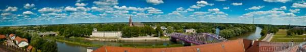 2014-07-03 Panorama Głogowa @Wieża Zamkowa (fot.P.Dudzicki) 02 [mini]