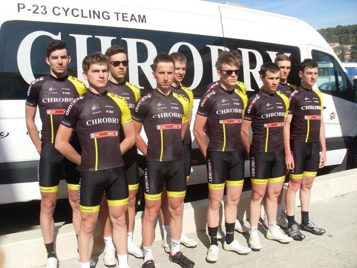 Zdjęcie: zespół kolarski TC Chrobry Głogów 2015-04